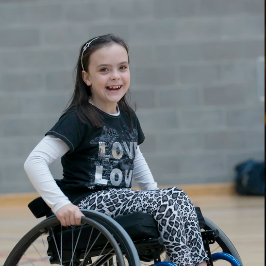 Young girl in a wheel chair